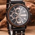 BOBO BIRD часы мужские montre деревянные часы мужские Хронограф военные часы роскошные стильные дропшиппинг с деревянной коробкой reloj hombre