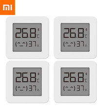 4 pcs Xiaomi Mijia Thermometer 2 Bluetooth Smart Home Temperature Humidity Sensor with LCD Screen Digital Moisture Thermograph