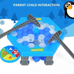 Mini Penguin  Board Game Ice Breaking Save The Penguin Party Game Parent-child Interactive Entertainment Table Toys Kid Gift