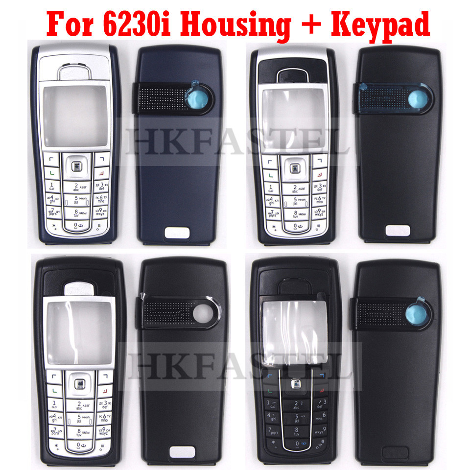 For Nokia 6230i 5A High Quality New Full Complete Mobile Phone Housing Cover Case With Keypad Dark Blue , Black , All Black