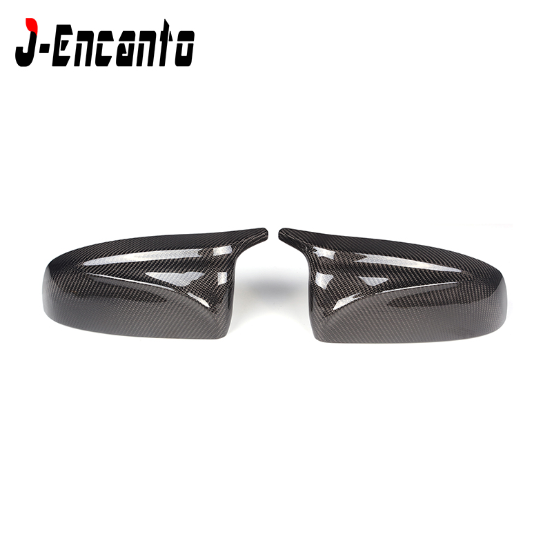 For <font><b>BMW</b></font> Carbon Mirror X5 E70 X6 E71 2007-2013 M look style Carbon Fiber Mirror Cover replacement glossy carbon black white image