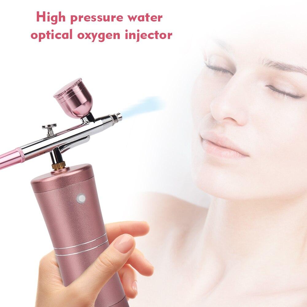 Oxygen Injector Moisturizing Beauty Machine Air Brush Sprayer Portable USB Charging High Pressure Water Oxygen Wireless Airbrush