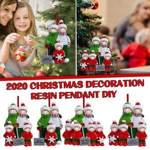 1pc 2021 Boże Narodzenie Resin Personalized Snow Shovel Family Ornament 2020 Christmas Holiday Decorations Navidad Home Decor