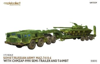 ModelCollect UA72329 1/72 SOVIET/RUSSIAN ARMY MAZ-7410-6 WITH CHMZAP-9990