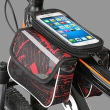 Велосипедная Передняя сумка для телефона с сенсорным экраном на раме, сумка для горного велосипеда, велосипедная сумка, седельная сумка для велосипедных аксессуаров