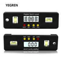 100mm/150mm/200mm Digital Spirit Level 360 degree Angle Inclinometer Electronic Protractor Horizon Meter Ruler Measuring Tool