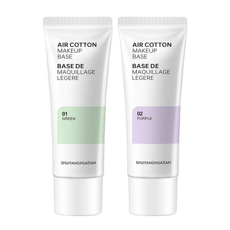 Основа под макияж Грунтовка крем масло Управление увлажняющий макияж невидимые поры зеленые покрытия красновато-областях фиолетовый восс...