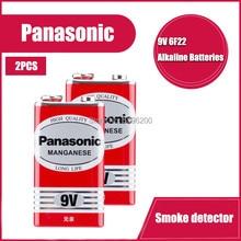 2 pces panasonic 9v 6f22 bateria super baterias resistentes seco batteria forinfrared termômetro eletrônico microfones sem fio