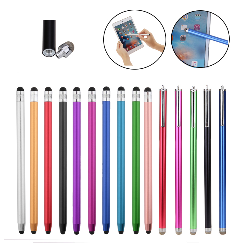 Dual Heads Ends Design Capacitive Pen Capacitive Stylus Touch Screen Drawing Pen With Silicone Touch Head For Table PC/ Phone