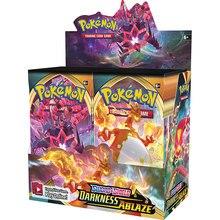 324Pcs 포켓몬 카드 TCG: 소드 & 쉴드 어둠 Ablaze 36 가방 봉인 된 부스터 박스 컬렉션 트레이딩 카드 게임 키즈 완구