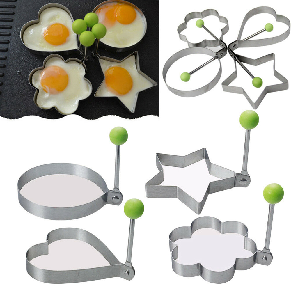 1pc Stainless Steel Fried Egg Shaper Pancake Mould Omelette Mold Frying Egg Cooking Tools Kitchen Accessories Gadget image