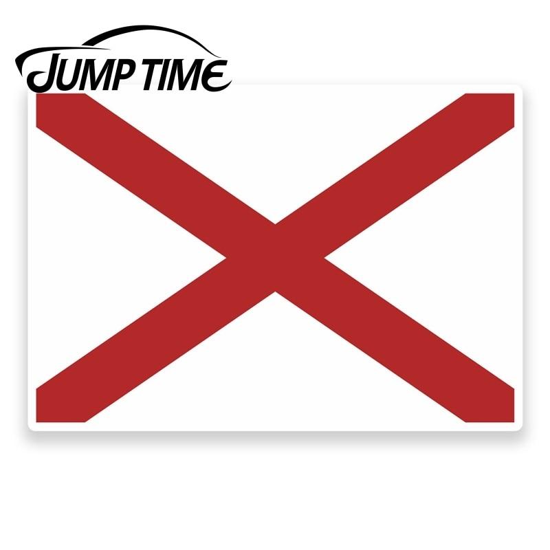 Время скачка для флага Alabama виниловая наклейка для ноутбука, автомобиля, планшета, США, автомобиля Assessoires наклейки виниловая автомобильная п...