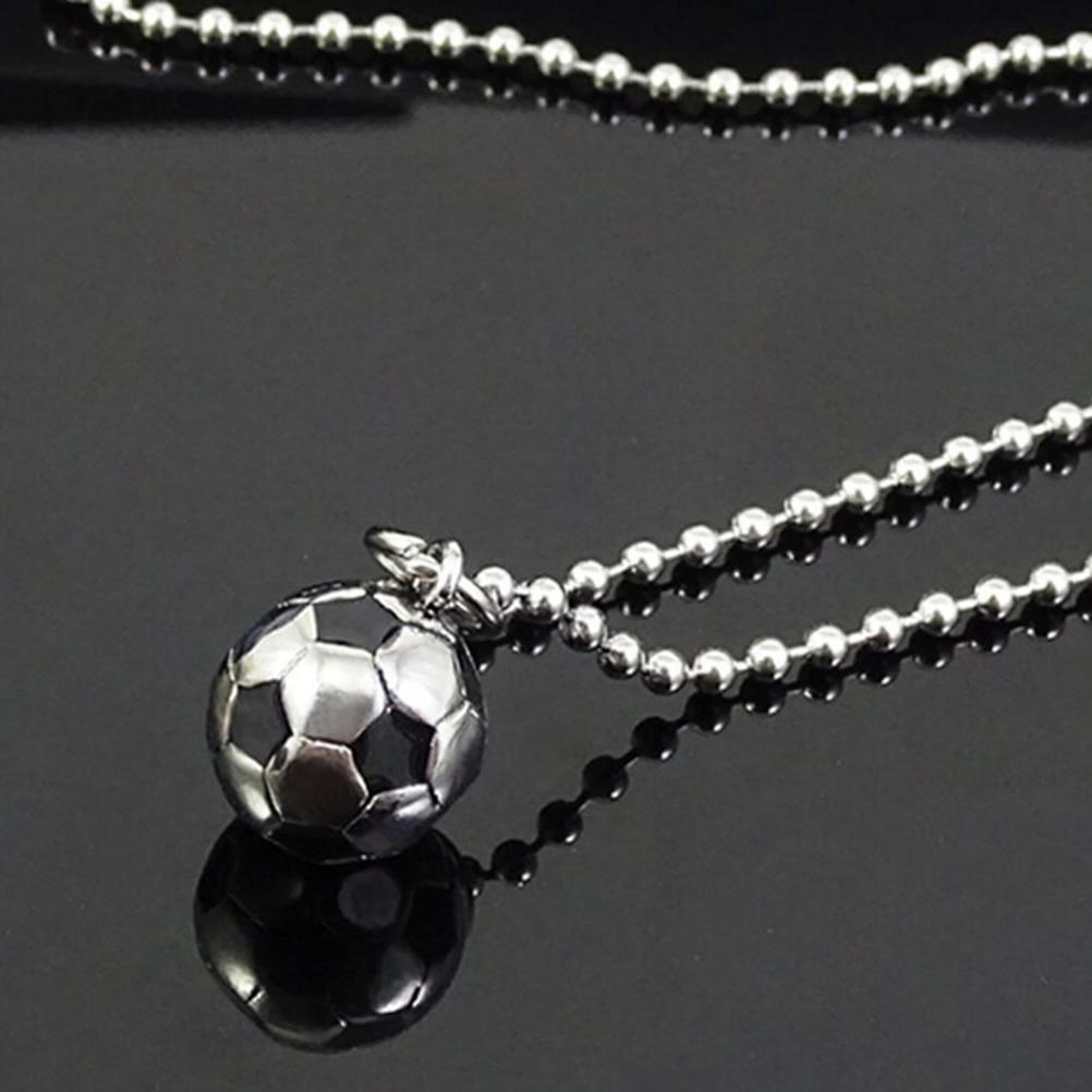 Neue Edelstahl mode lychee Sport Fußball Ball Anhänger Fußball Halskette Metall Link Kette Männer Frauen Schmuck