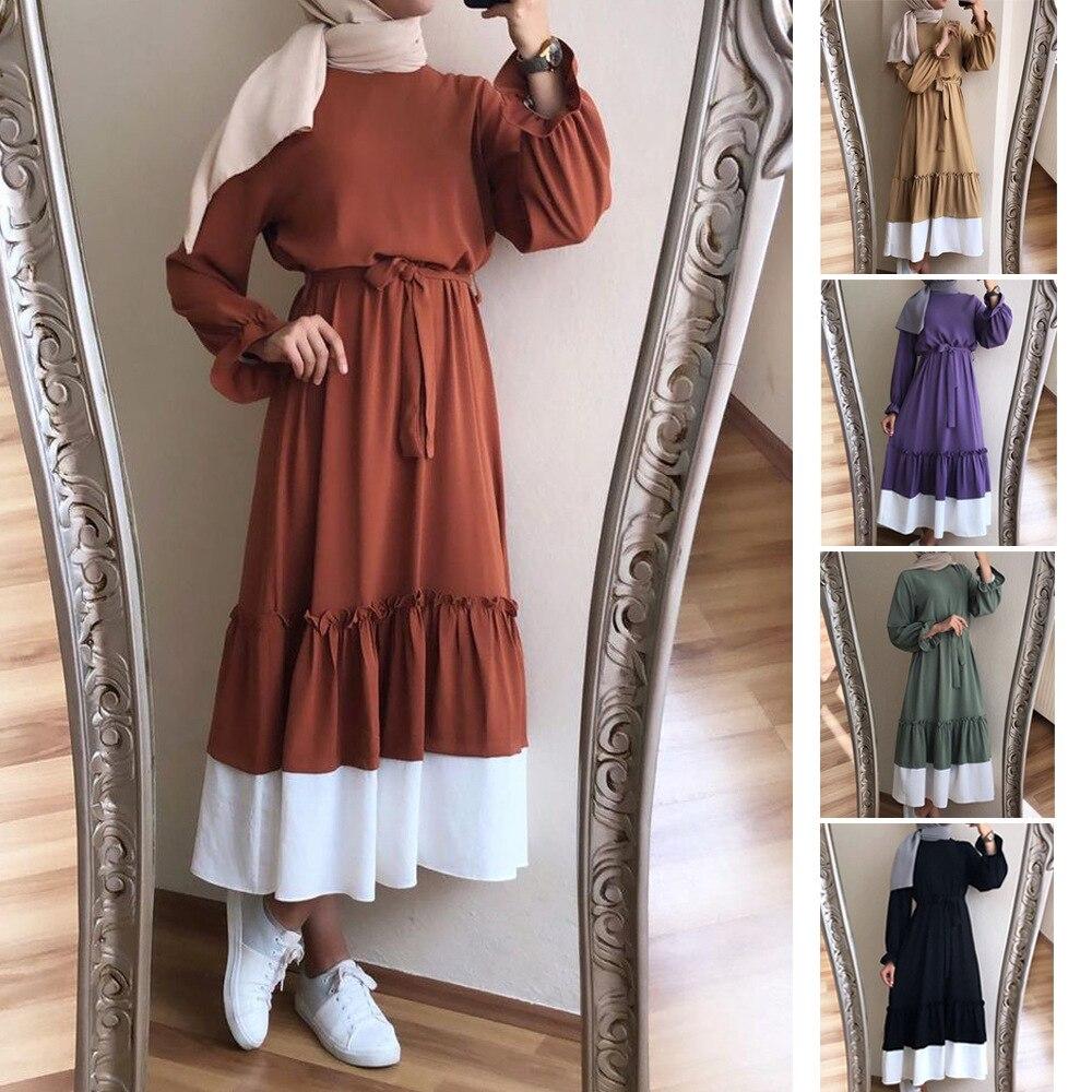 Muslim Ladies Abaya Maxi Dress Hijab Robes Cardigan Long Tunic Kimono Ramadan Islamic Prayer Worship Service Turkey Vestidos