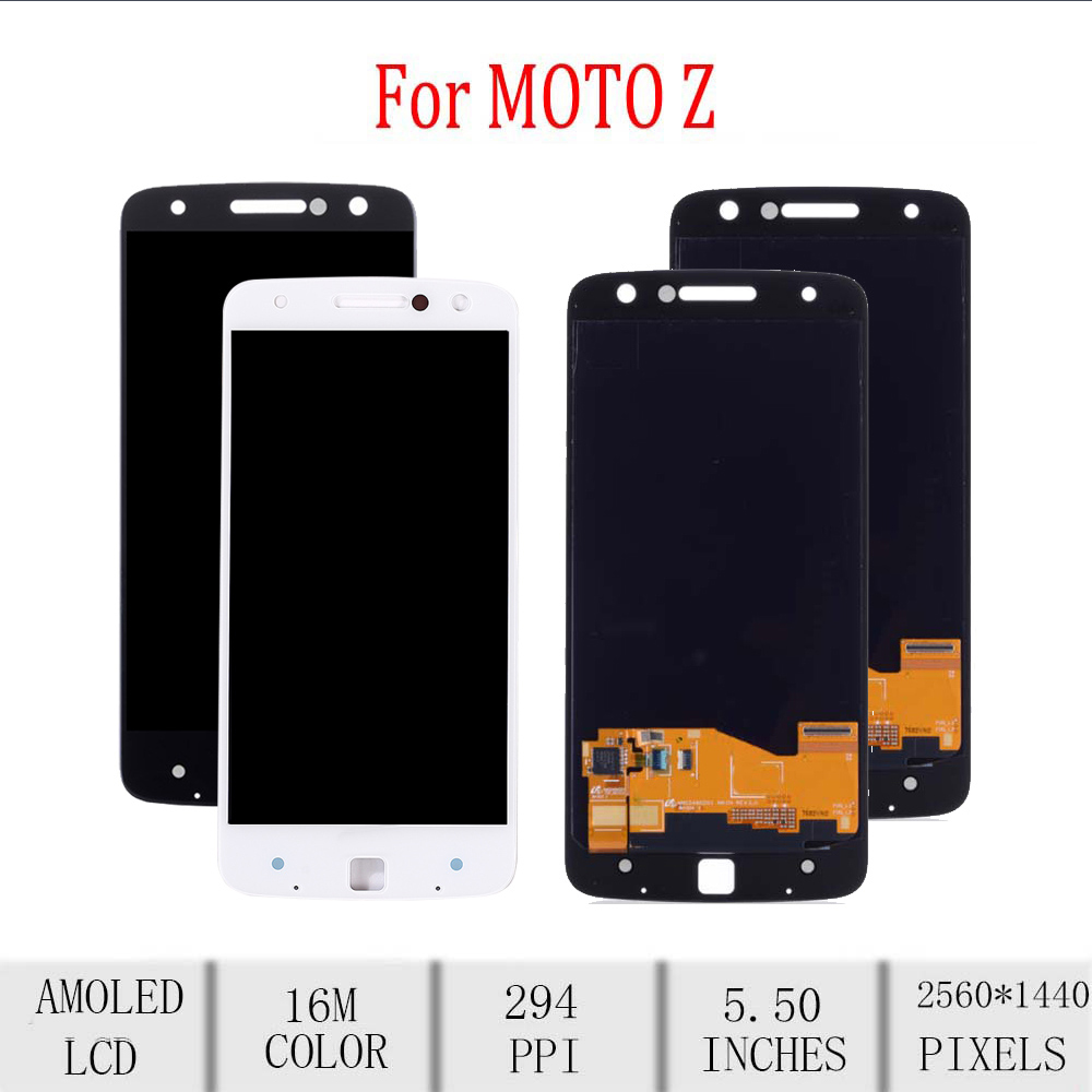 Original For Motorola Moto Z Droid LCD Display Touch Screen Digitizer Assembly For Moto Z Display Replacement <font><b>XT1635</b></font> <font><b>XT1635</b></font>-<font><b>02</b></font> image