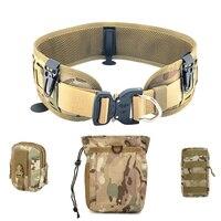 Taktische Gürtel Molle Krieg Schlacht Militär Ausrüstung Nylon Gürtel Einstellbare SWAT Armee Bund Taille Unterstützung Arbeits Jagd Gürtel