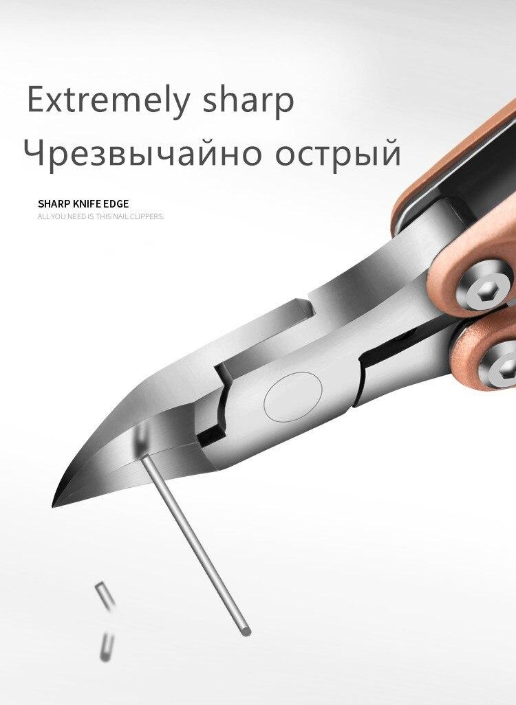Portátil dobrável toenail encravado unha arte cutícula