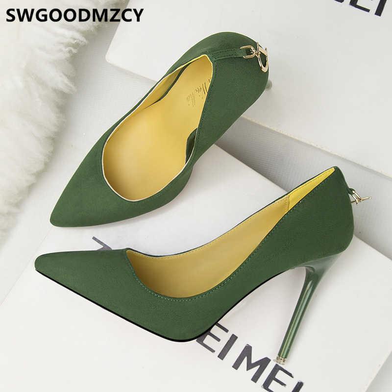 Kadın ayakkabı lüks stiletto seksi yüksek topuklu elbise ayakkabı kadınlar aşırı yüksek topuklu siyah akşam ayakkabı pompalar fetiş yüksek topuklu