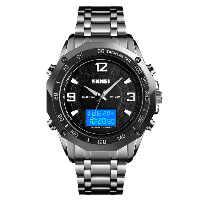 Fashion Casual 2019 Men Watch Multifunctional Dual Display Watches Digital Analog Men Watch Waterproof Business Male Wristwatch | Fotoflaco.net