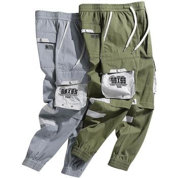 2020 Men's Streetwear 100%Cotton Side Pocket Design Comfortable Low Moq Trousers Cargo Pants for Man
