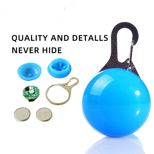 Glowing Pet Pendant LED Dog Collar Lighting For Night Safety  5