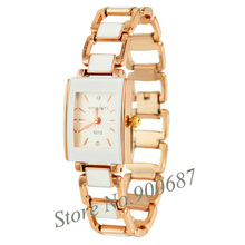 Women Bracelet Watches White Rectangle Fashion Dress Quartz Wristwatches montre femme reloj mujer