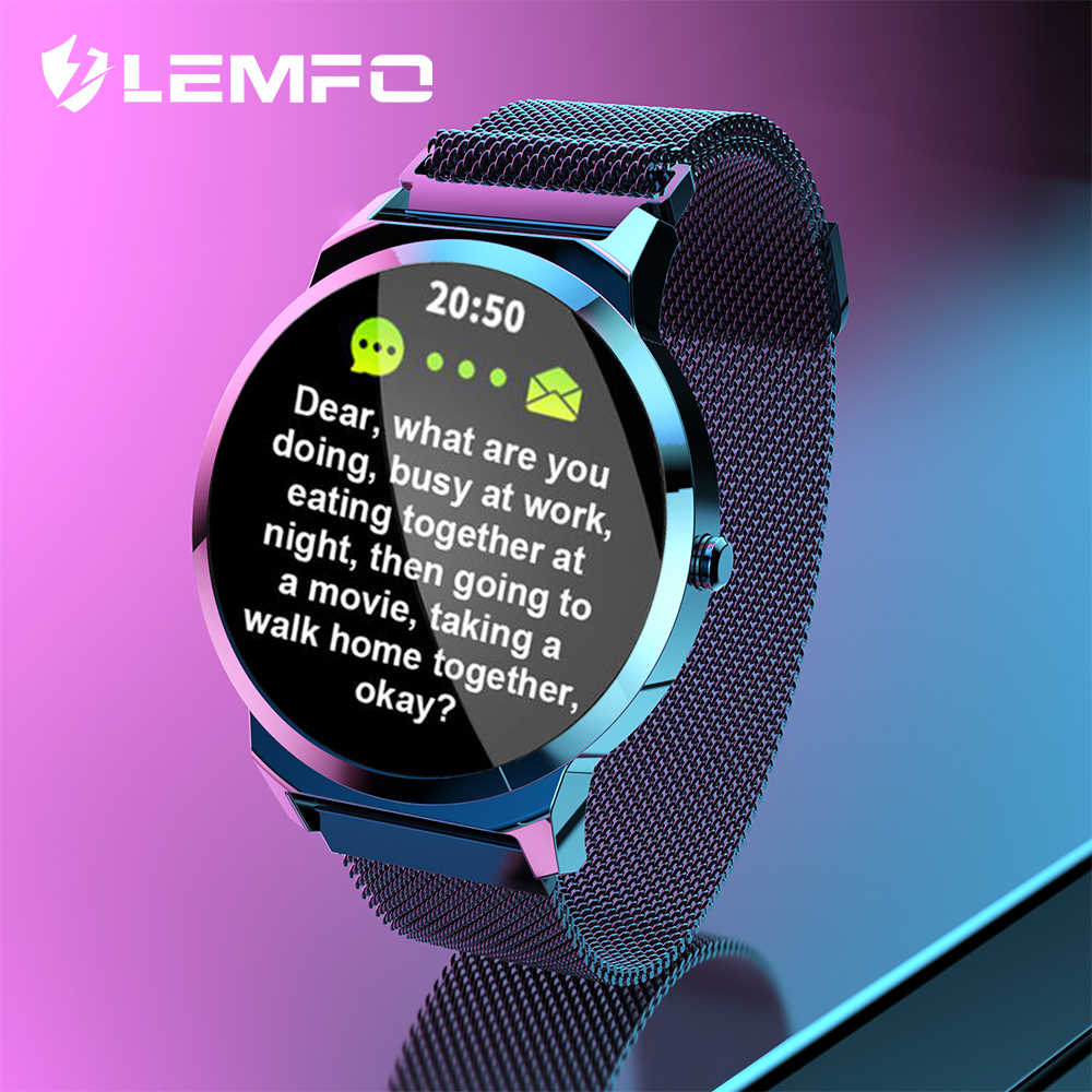LEMFO Smart Watch ELF1 Full Touch Round Screen Heart Rate Blood Pressure Monitor Waterproof Smart Watches Men Women for Android