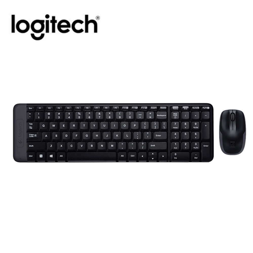 Logitech MK220 Wireless keyboard and mouse set 104 Keys Wireless Keyboard 1000dpi Mouse USB Receiver Set Plug-and-play for home