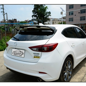Image 4 - Carbon Fiber Exterior Rear Spoiler Tail Trunk Boot Wing Decoration Car Styling For Mazda 3 Axela Hatchback 2014 2015 2016 2017