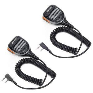 Image 1 - 2PCS ABBREE AR 780 עמיד למים כתף רמקול מיקרופון למכשיר קשר TH UV8000D MD 380 Baofeng UV S9 BF UVB3 בתוספת AR F8