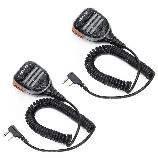 2PCS ABBREE AR 780 עמיד למים כתף רמקול מיקרופון למכשיר קשר TH UV8000D MD 380 Baofeng UV S9 BF UVB3 בתוספת AR F8