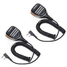 2PCS ABBREE AR 780 Waterproof Shoulder Speaker Microphone for Walkie Talkie TH UV8000D MD 380 Baofeng UV S9 BF UVB3 Plus AR F8