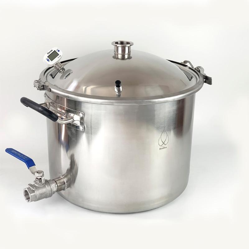 25L Pot, Boiler, Tank, Fermenter With Bell Lid  Distillation, Rectification, Sanitary Steel 304