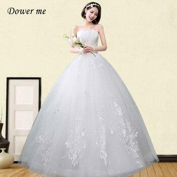 Strapless Wedding Dress GR673 Embroidery Wedding Dresses Elegant Pearls Floor Length Bridal Gown Plus Size Vestidos De Novia