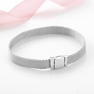 Image 3 - High quality 925 Sterling Silver Fashion Clip Beads Bracelets for Women Fit Original reflexions bracelet charms femme Jewelry