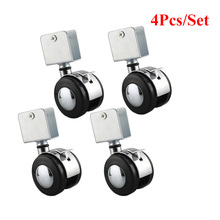 4pcs Brand New 2 Inch Crib Casters With Splint Brake Rotating Wheels Zinc Alloy + Nylon High Quality Hardware Fittings
