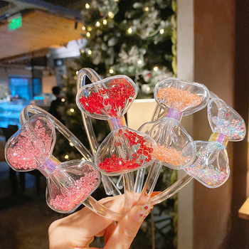 1Pc Cute Bows Headband for Baby Girls Hairbands Korean Children Princess Hair Band Kids Jelly Transparent Accessories