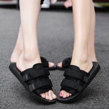 PUPUDA, zapatillas negras de verano para hombre, zapatillas ligeras para hombre, zapatos de playa para pareja, zapatillas de moda para mujer, zapatillas grandes para hombre