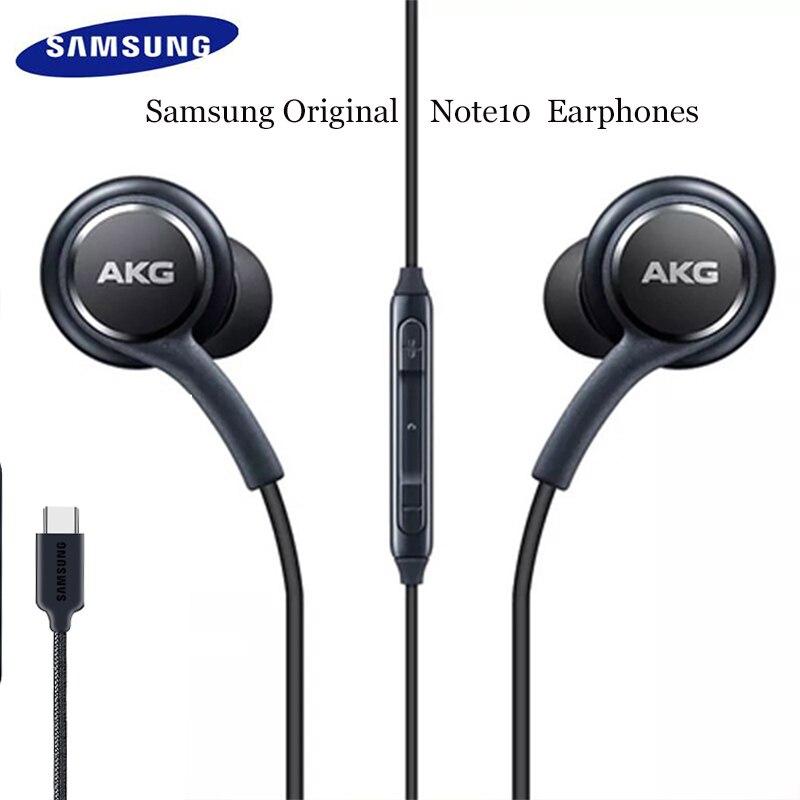 Оригинальные наушники Samsung Type C, 24-битные Наушники с разъемом HD DAC, наушники-вкладыши с микрофоном и регулировкой громкости для Galaxy A8S Note 10, Ipad ...