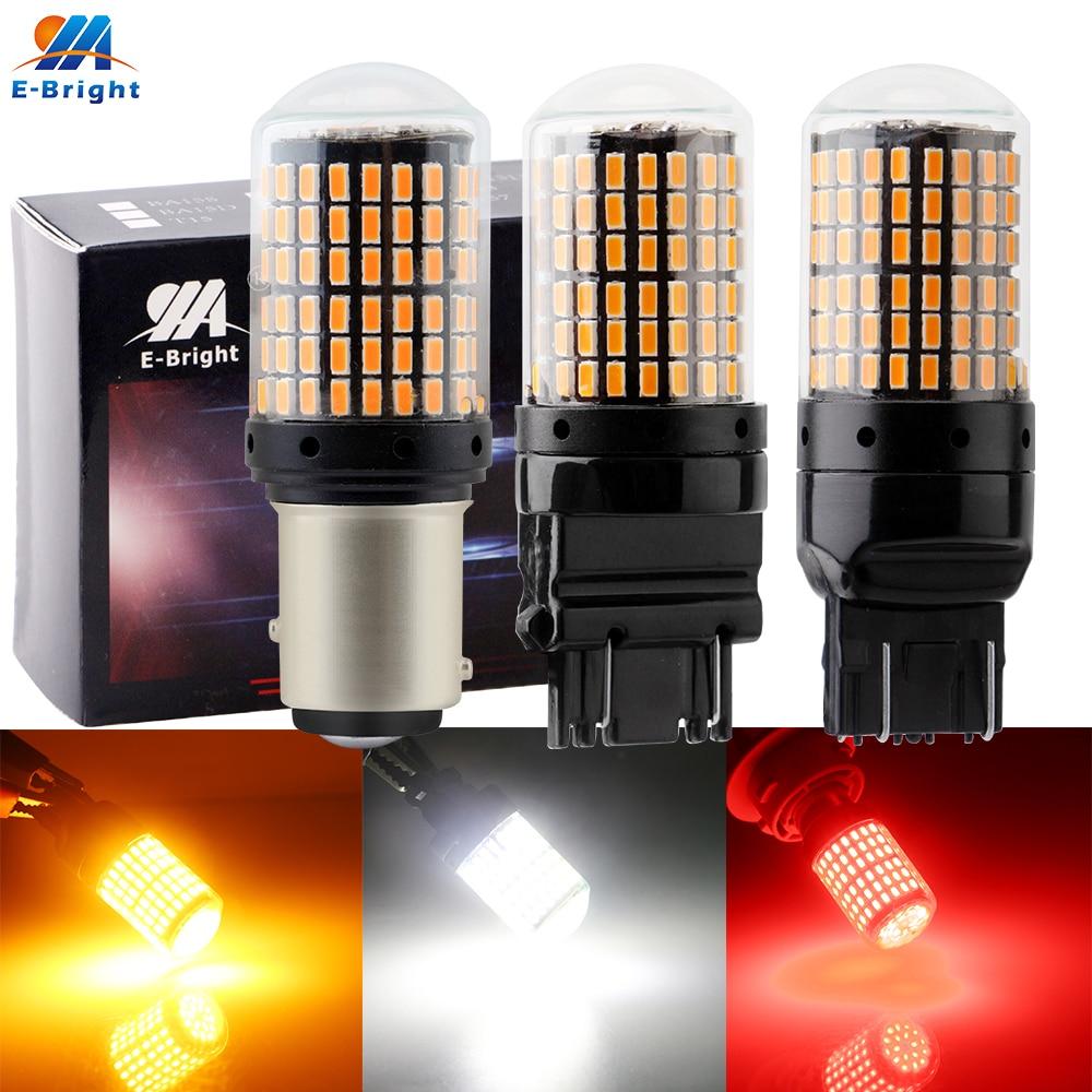 2x 144 SMD 2800LM Super White Back Up Reverse Tail LED Light Bulb 3157 3156