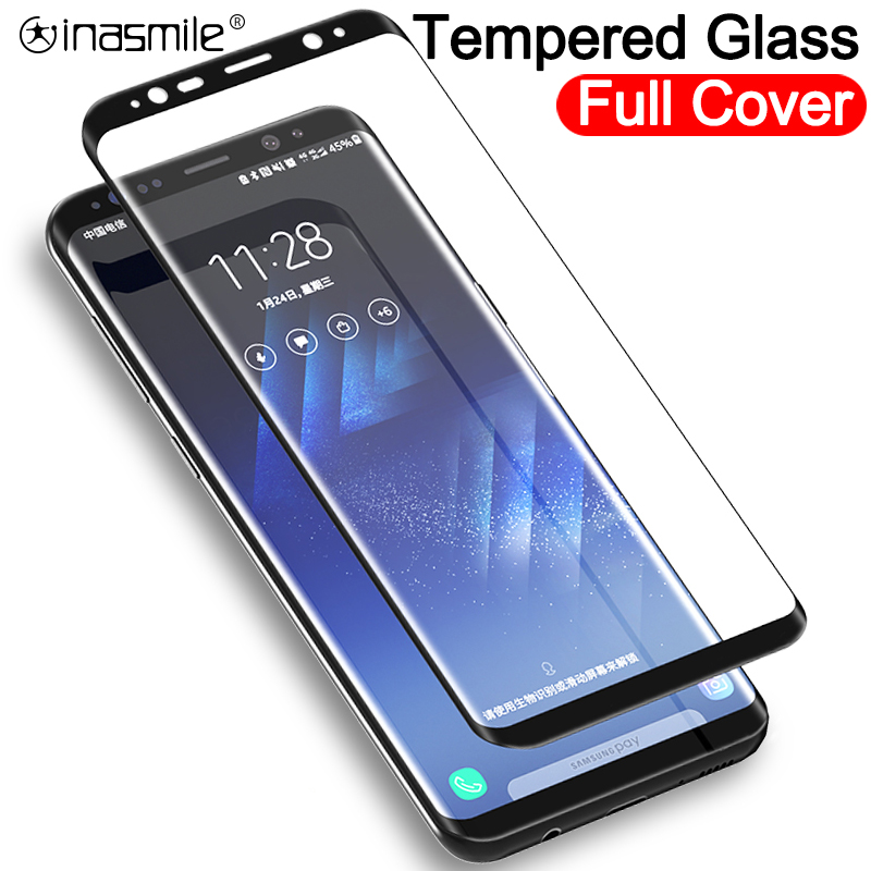 Tempered <font><b>Glass</b></font> Film For <font><b>Samsung</b></font> Galaxy Note <font><b>8</b></font> 9 S9 S8 Plus S7 Edge Full Curved Screen Protector For <font><b>Samsung</b></font> A6 A8 Plus <font><b>2018</b></font> image