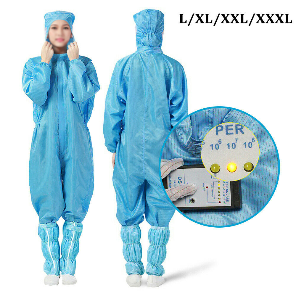 1pcs Reusable Protective Overalls Splashproof Suits + 1Pair Disposable Shoe Cover Personal Protective Equipment For Ourdoor