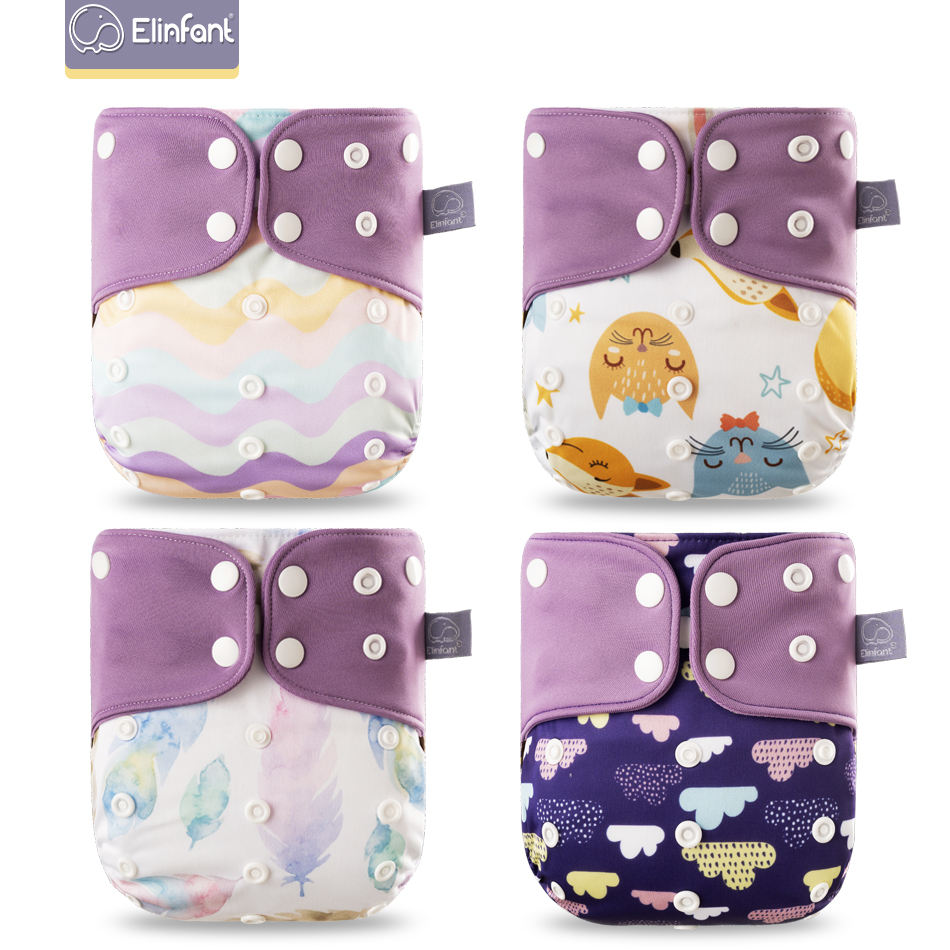 Elinfant ECO-friendly Diaper Adjustable Reusable Coffee Fiber Diaper Pocket