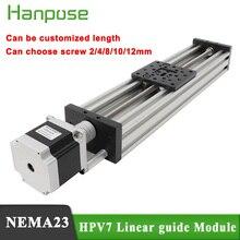 HPV7 Openbuilds C Beam линейный актуатор Z axis t8 шаг винта 2/4/8/12/14 мм NEMA23 2.8A шаговый двигатель для 3D принтера Reprap