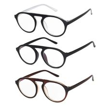 Flat Top Vintage Round Glasses Frame For Men Women Personality Eyeglasses Optical Spectacle