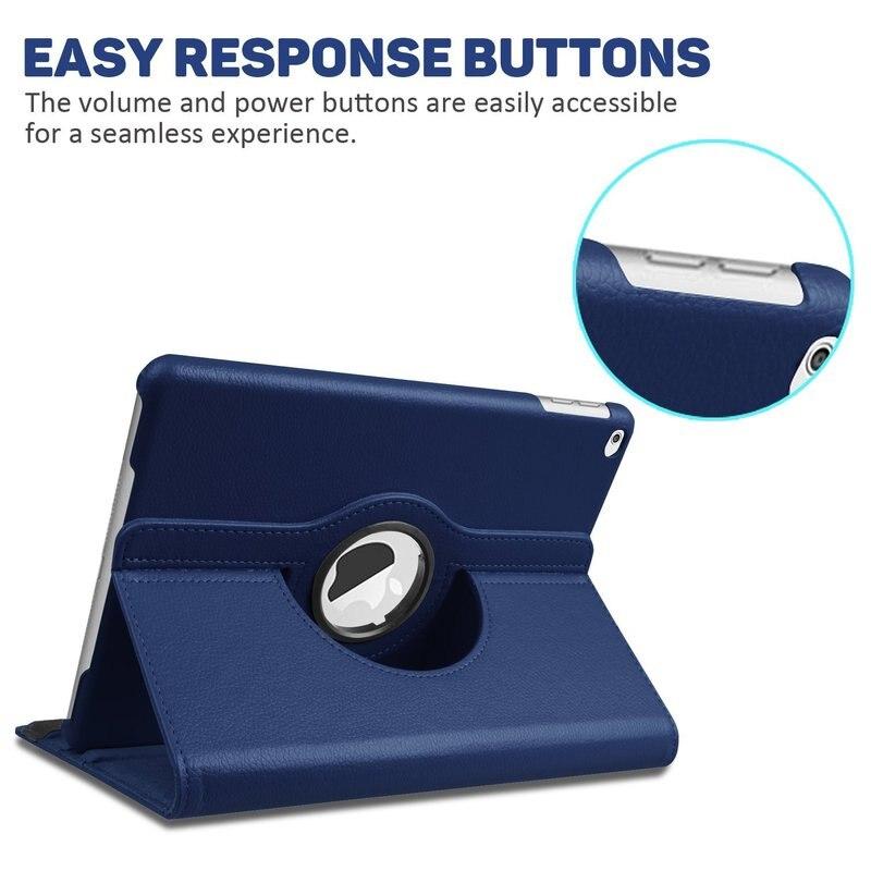 360 graus de rotação do plutônio suporte de couro caso capa para ipad ar 2 caso inteligente para ipad 6th geração caso 2018 a1567 a1566 6