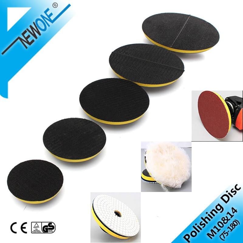 M10/M14 80-180mm Polishing Self-adhesive Disc Polishing Sandpaper Sheet Adhesive Disc Chuck Angle Grinder Sticky Plate For Car