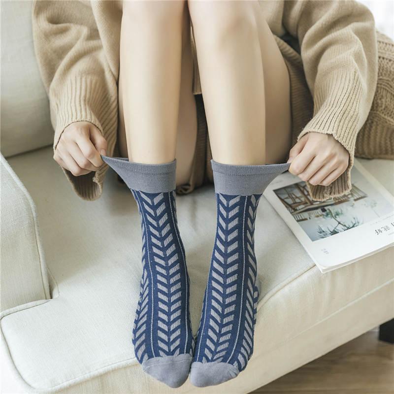 KingDeng Warm Socks For Woman Ankle Fall Cotton Womens Harajuku Art Stitch 3D Cool Unisex Sock Streetwear Korean Style Women