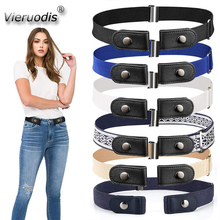 Waist-Belt Dresses Jeans Stretch No-Buckle Elastic Women Casual for Pants No-Hassle 14-Styles