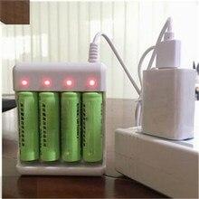 Chargeur de batterie universel USB 3/4 Solts, adaptateur pour piles rechargeables AA/AAA, accessoires d'alimentation